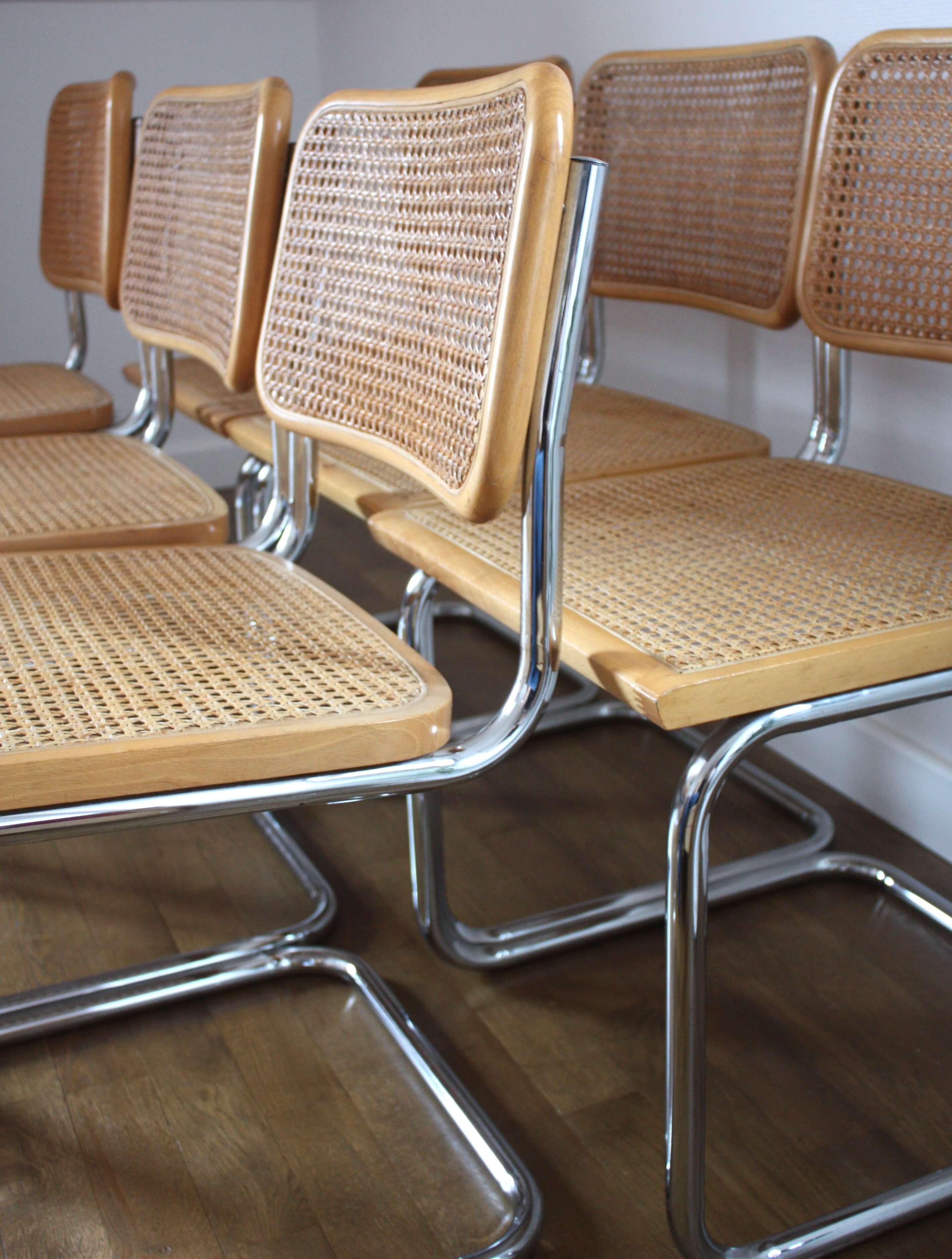 chaises vintage marcel breuer cesca b32. Black Bedroom Furniture Sets. Home Design Ideas