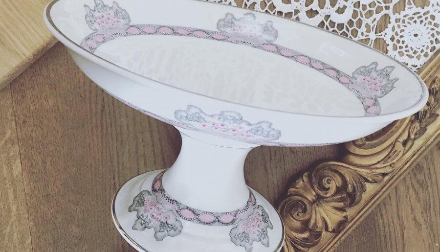 Grand compotier porcelaine de Limoges «Royal»